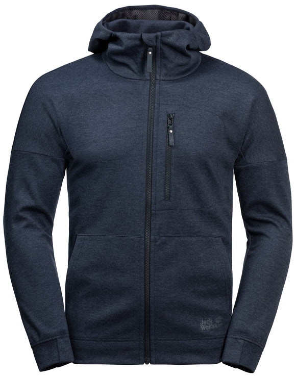 Jack Wolfskin Mens Riverland Hooded Fleece Jacket - Night Blue