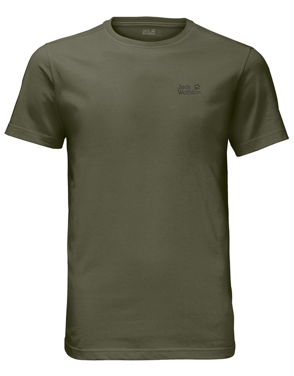 Jack Wolfskin Mens Essential T Shirt - Woodland Green