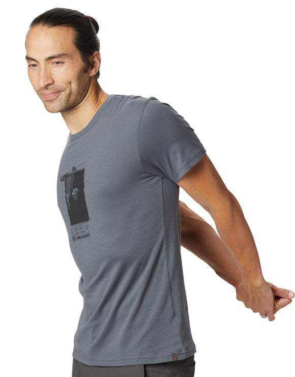 Mountain Hardwear Mens Straight Up T Shirt - Graphite