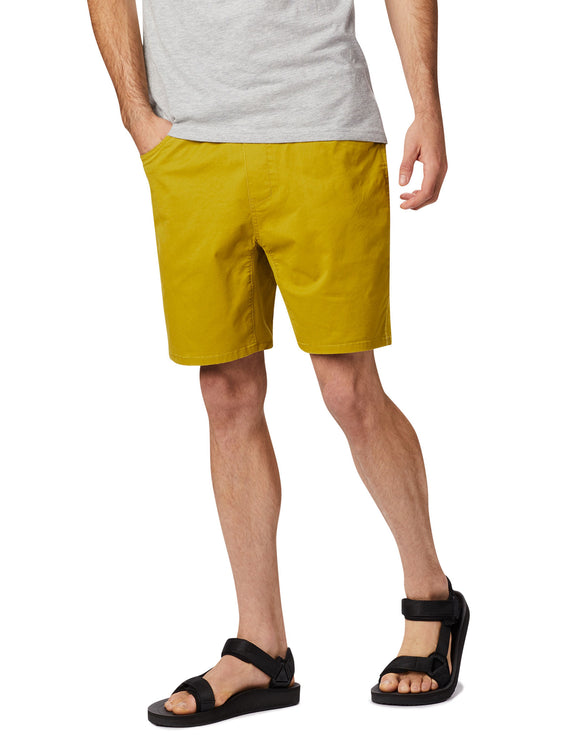 Mountain Hardwear Mens Cederberg Pull On Short - Dark Citron