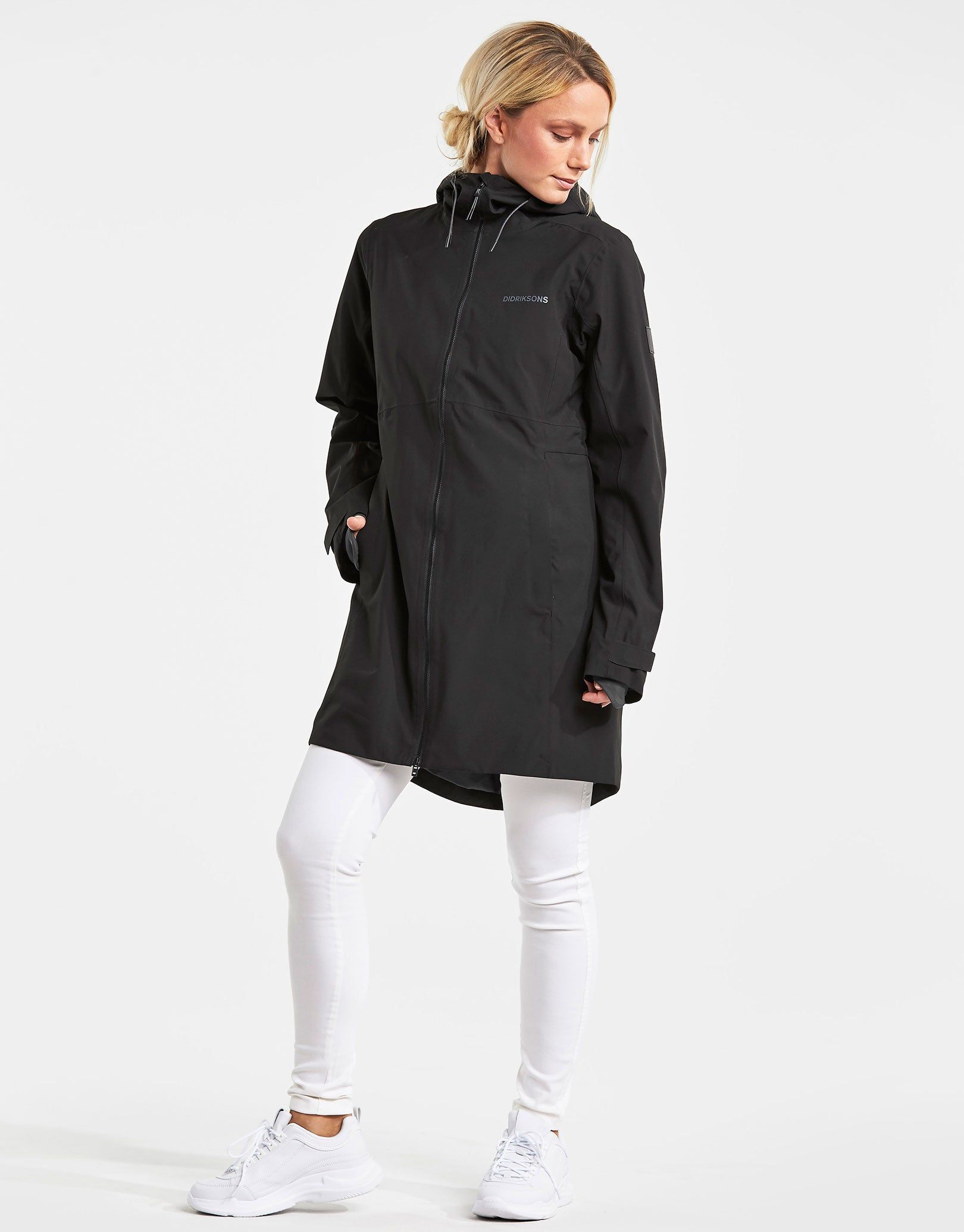 ffbb678470 Didriksons Womens Bea Parka Jacket - Black | Simply Hike UK