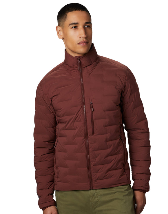 Mountain Hardwear Mens Super DS Stretch Down Jacket - Dark Umber