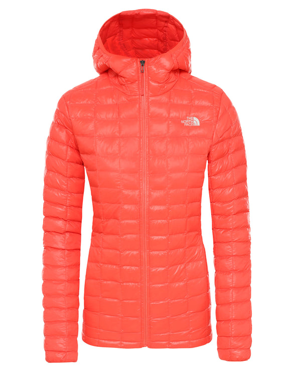 The North Face Womens ThermoBall Eco Hoodie Jacket - Radiant Orange