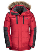 Jack Wolfskin Mens The Cook Parka Jacket - Red Lacquer