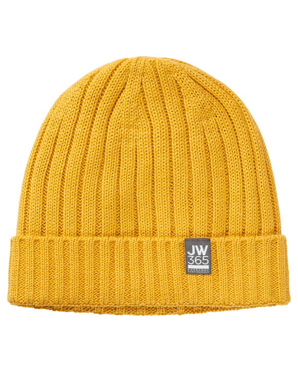 Jack Wolfskin Mens 365 Stormlock Rip Knit Beanie Hat - Burly Yellow