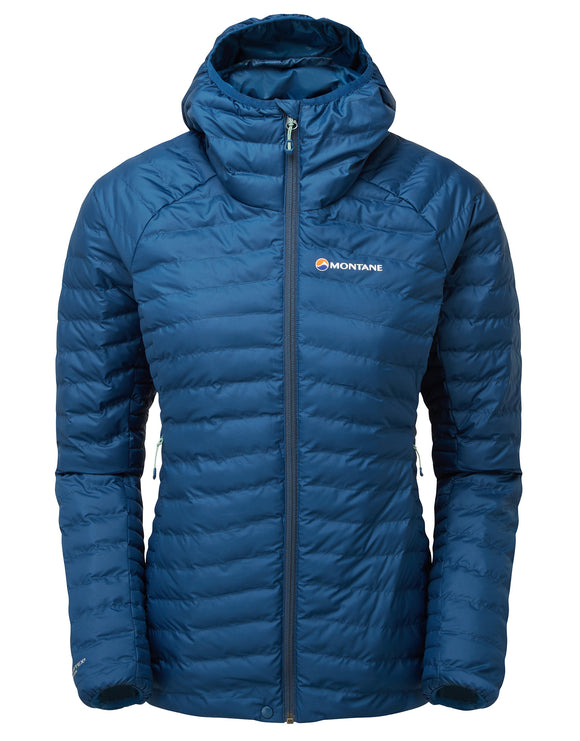 Montane Womens Phoenix Thermoplume Jacket - Narwahl Blue