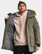 Didriksons Mens Marcel Parka Jacket - Crocodile Green
