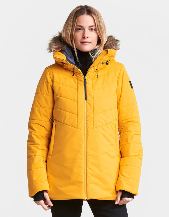 Didriksons Womens Nana Padded Jacket - Oat Yellow