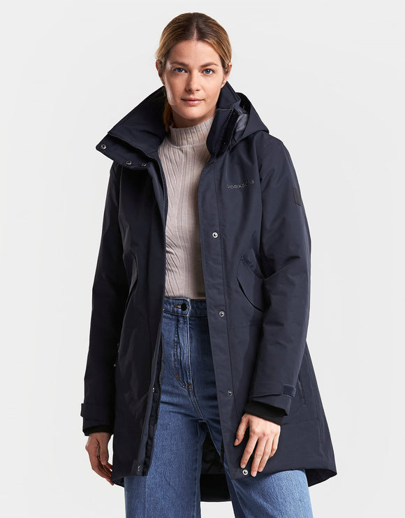 Didriksons Womens Tanja Parka Jacket - Dark Night Blue