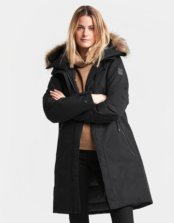Didriksons Womens Mea Parka Jacket - Black