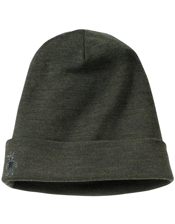 SmartWool Cuffed Beanie Hat - Olive Heather