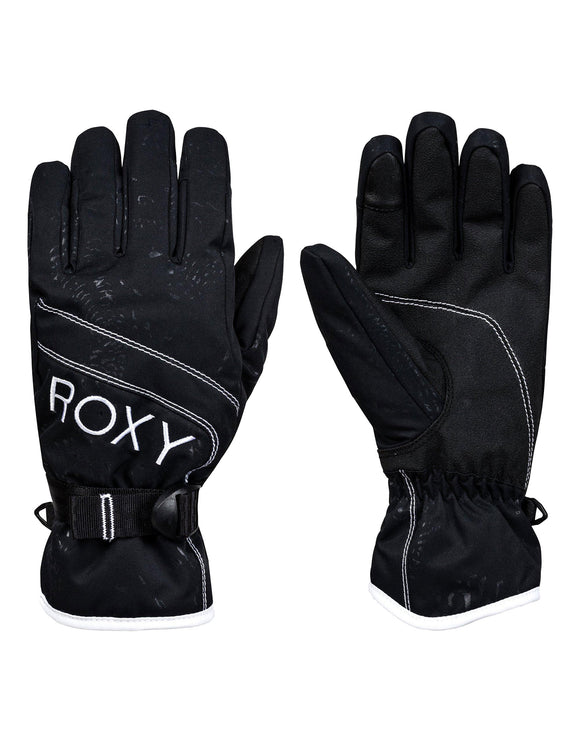 Roxy Womens Roxy Jetty Solid Ski Gloves - True Black