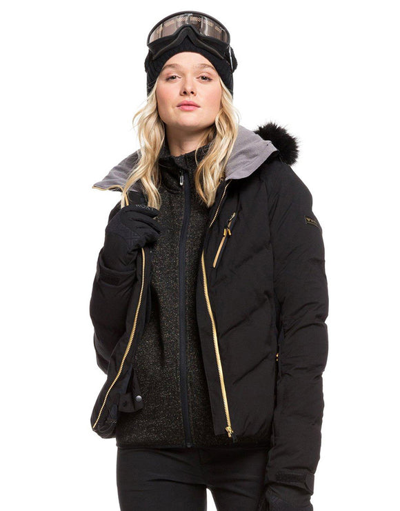 Roxy Womens Snowstorm Plus Ski Jacket - True Black