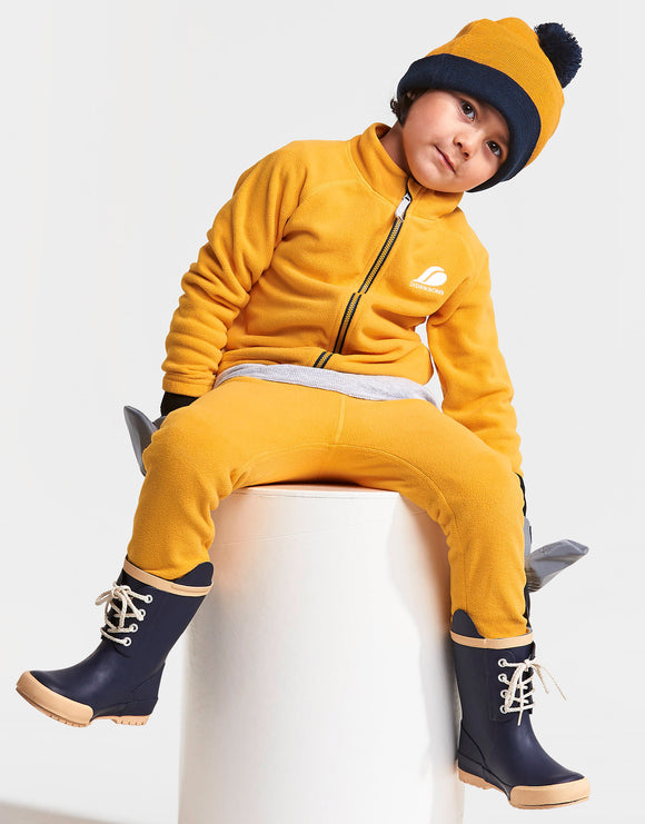Didriksons Kids Monte Fleece - Oat Yellow