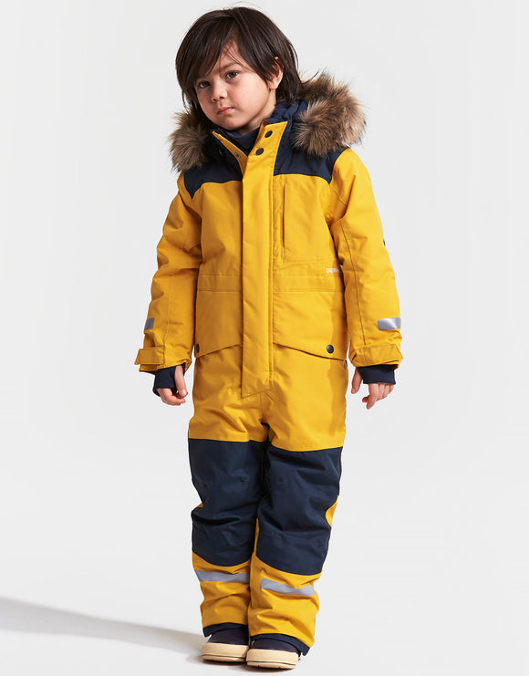 Didriksons Kids Bjornen Coverall - Oat Yellow