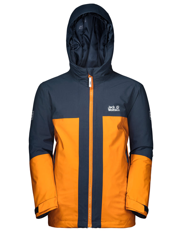 Jack Wolfskin Boys Powder Mountain Ski Jacket - Rusty Orange