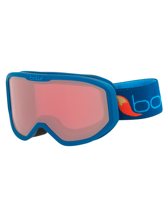 Bolle Kids Inuk Ski Goggle - Matte Blue Fox with Vermillon Lens