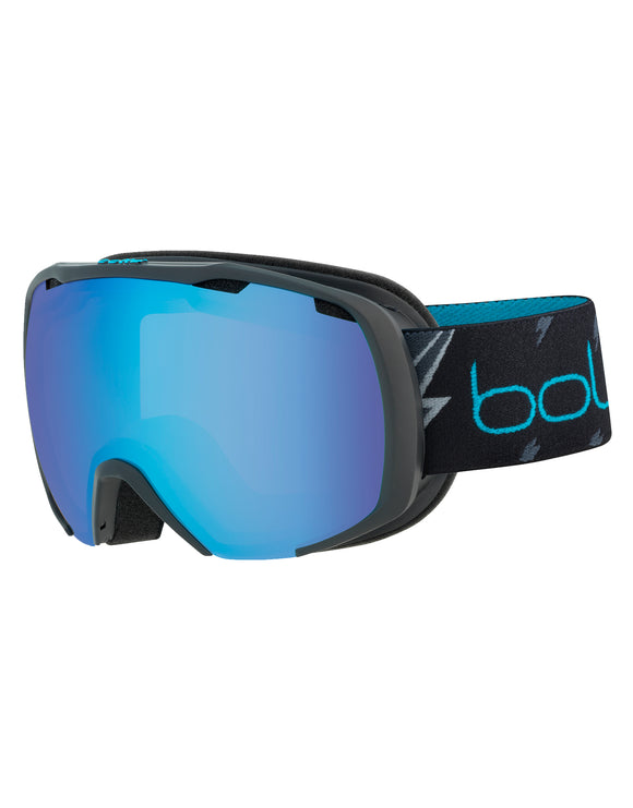 Bolle Kids Royal Ski Goggle - Matte Black Flash with Aurora Lens