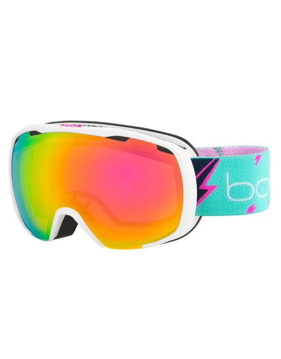 Bolle Kids Royal Ski Goggle - Matte White Flash with Rose Gold Lens