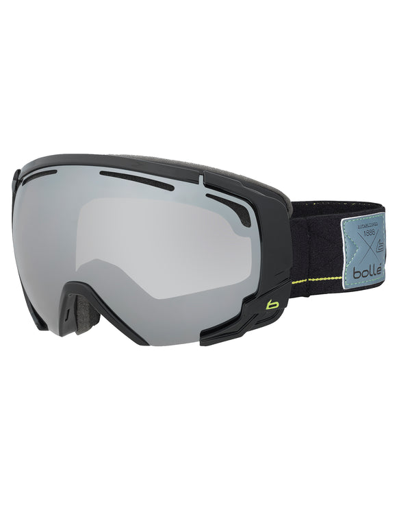 Bolle Supreme OTG Ski Goggle - Shiny Black Lime with Black Chrome