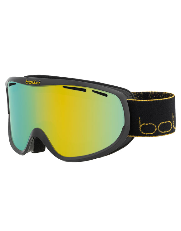 Bolle Womens Sierra Ski Goggle - Shiny Black Gold with Sunshine Lens