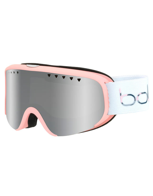 Bolle Womens Scarlett Goggle - Matte Pink White with Black Chrome