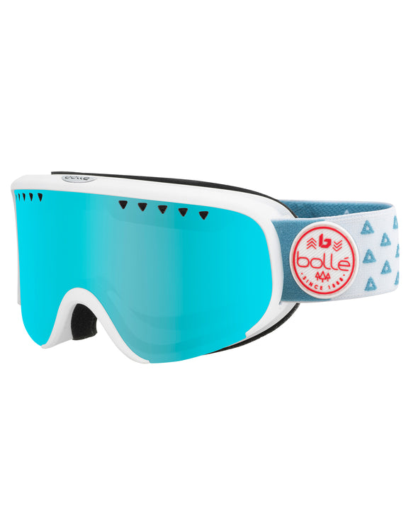 Bolle Womens Scarlett Ski Goggle - Matte White Triangle with Photochromatic Vermillon Lens