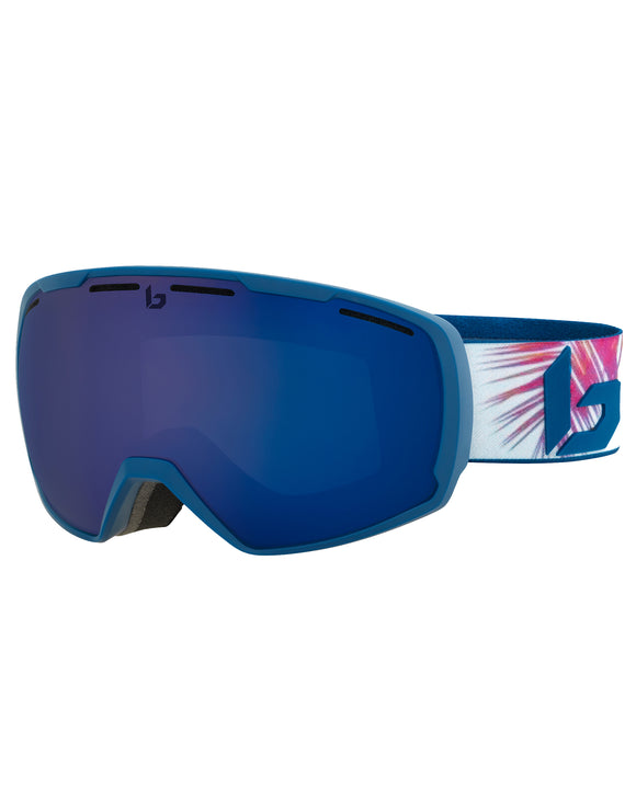 Bolle Womens Laika Ski Goggle - Matte Blue Hawai with Bronze Blue Lens