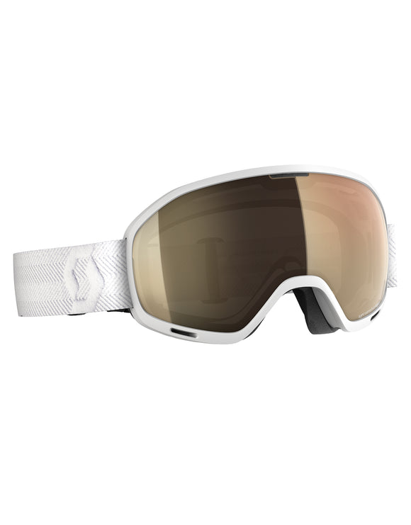 Scott Unlimited II OTG Ski Goggle - White with Light Sensitive Bro