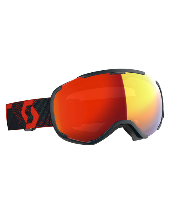 Scott Faze II Ski Goggle - Blue Nights with Light Sensitive Red Chrome