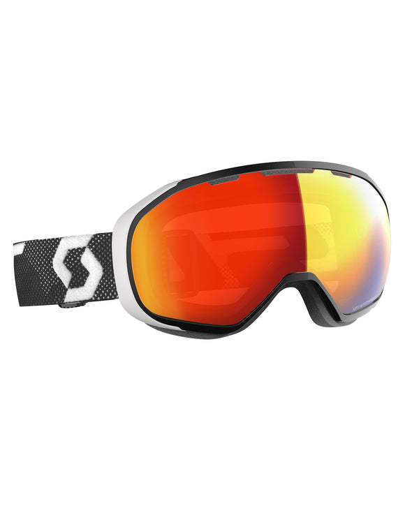 Scott Fix Ski Goggle - Black White with Light Sensitive Red Chrome