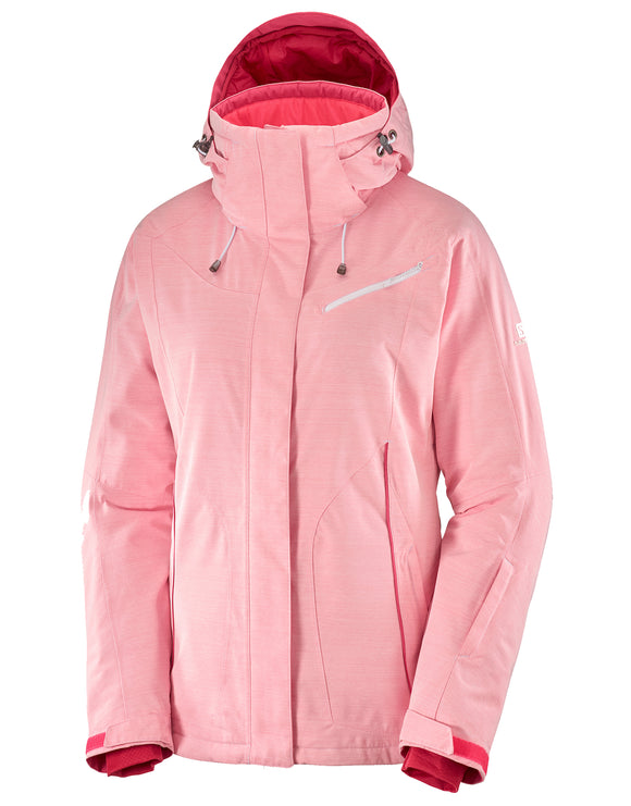 Salomon Womens Fantasy Ski Jacket - Calypso Coral