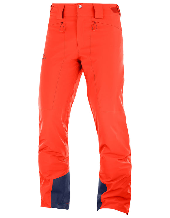 Salomon Mens Icemania Ski Pant - Cherry Tomato