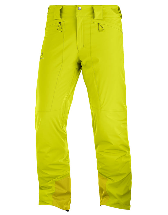 Salomon Mens Icemania Ski Pant - Citronelle