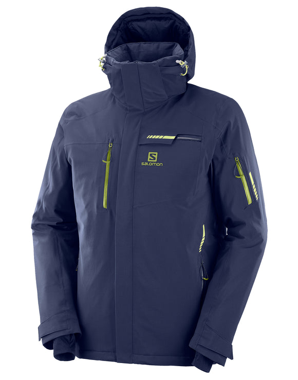 Salomon Mens Brilliant Ski Jacket - Night Sky Blue