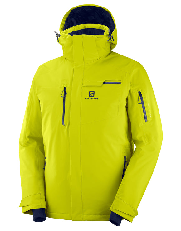 Salomon Mens Brilliant Ski Jacket - Citronelle