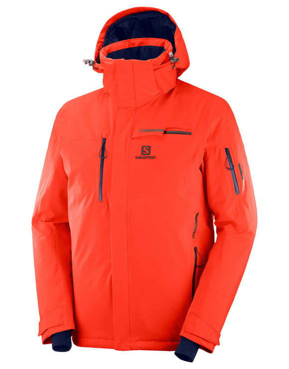 Salomon Mens Brilliant Ski Jacket - Cherry Tomato