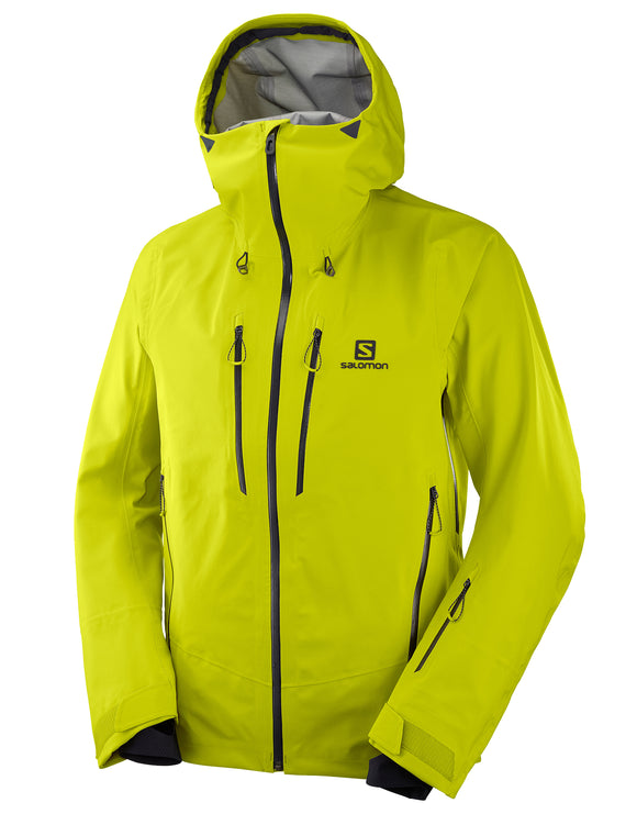 Salomon Mens Icestar 3L Shell Ski Jacket - Citronelle