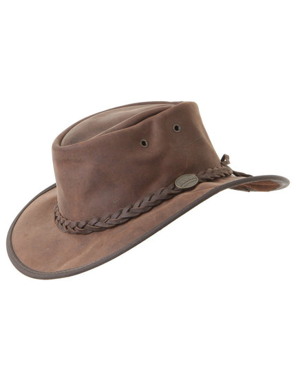 Barmah Foldaway Bronco Hat - Dark Brown