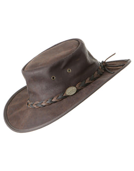 Barmah Squashy Roo Hat - Brown Crackle