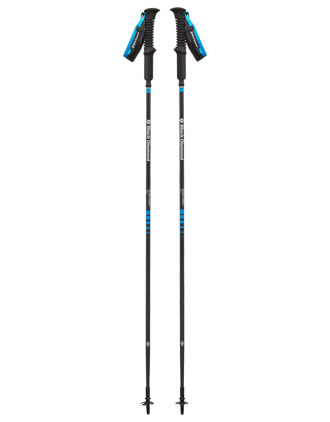 Distance Carbon Z Walking Poles - Pair - 95 to 110cm