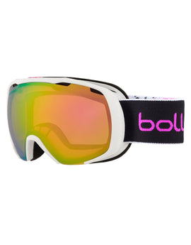 Bolle Kids Royal Goggle - Matte White and Pink Spray with Rose Gold Lens