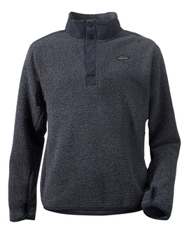 Didriksons Boys Wille Half Button Fleece - Midnight Blue