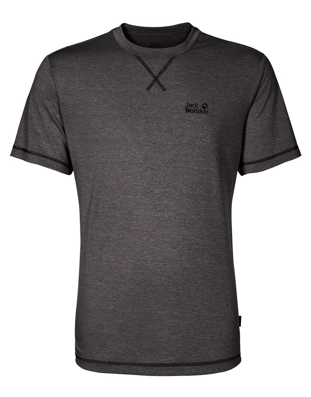 Mens Crosstrail Tee - Dark Steel - Large Grey