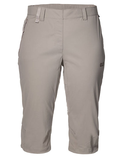 Jack Wolfskin Womens Activate Light Three Quarter Pants - Moon Rock