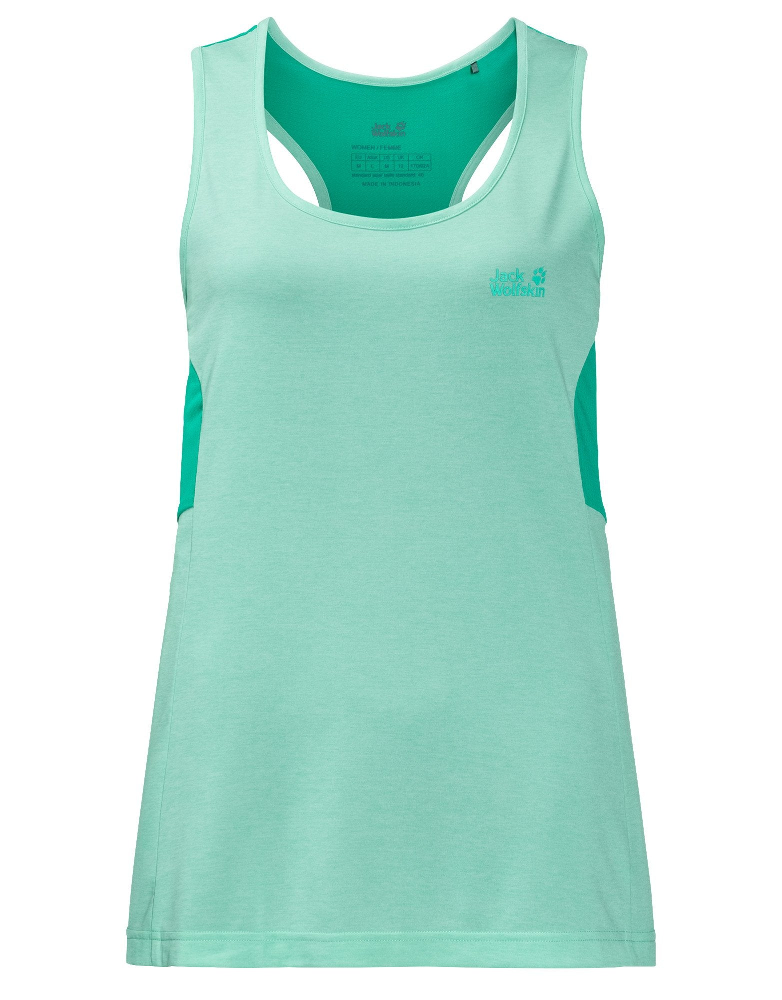 Womens Crosstrail Top - Pale Mint - Small Green
