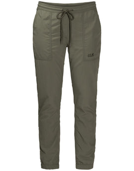 Jack Wolfskin Womens Kalahari Cuffed Pants - Woodland Green
