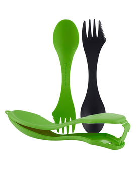 Light My Fire Spork and Spork Case - Black and Green