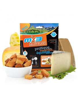 MX3 Adventure Four Cheese Fondue with Croutons Freeze Dry Meal Pouch