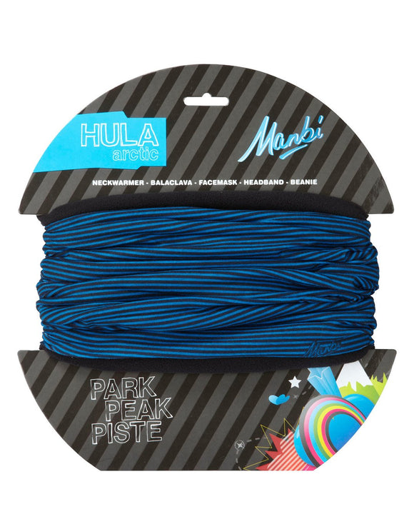 Manbi Adult Hula Arctic Pattern Neck Warmer - Thin Stripes Blue